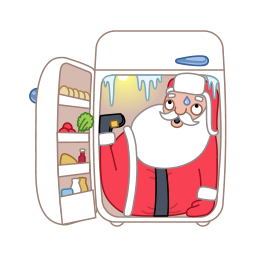 fridge santa claus icons
