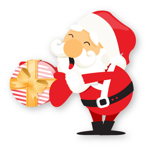 gift giving santa claus icons