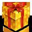 gold gift box icon