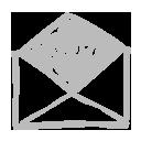 gray e mail icons