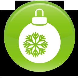 green christmas ball icon