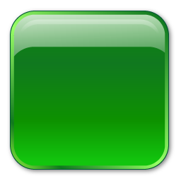 green crystal icon style rectangular button