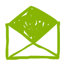 green email symbol icon