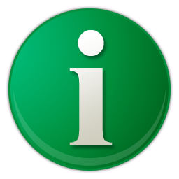 green info button icon