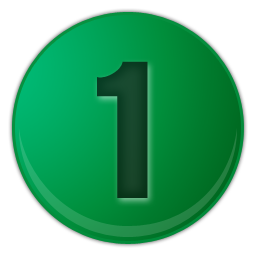 green number 1 icon