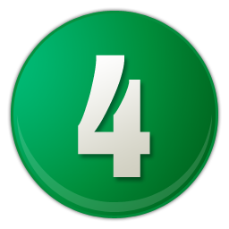 green number 4 icon