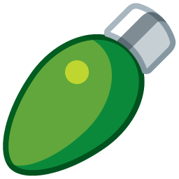 green oval shaped light bulb icon