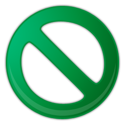 green prohibition sign icon