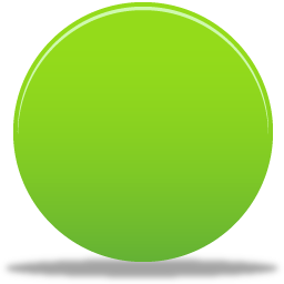 green round button icon