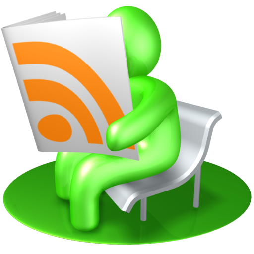 green rss reader logo icon