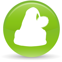 green santa hat icon