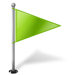 green small flag icon