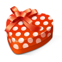heart shaped gift box icon