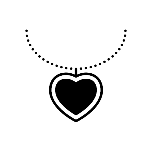 heart shaped necklace icon