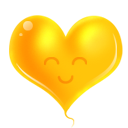 heart yellow icon