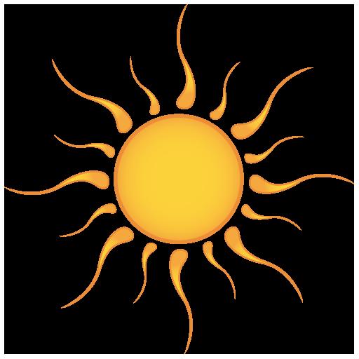 hot sun icon