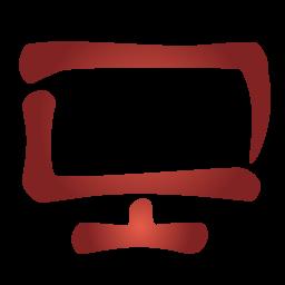 icon red computer monitors