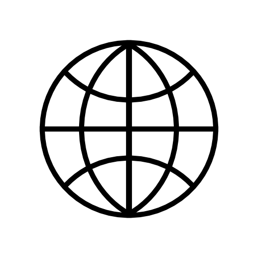 internet simple earth icon