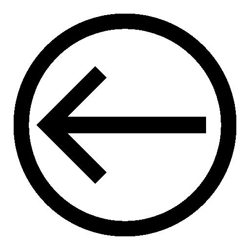 left arrow back icon