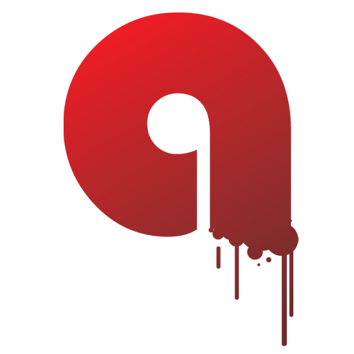 letter q icon that drops of blood