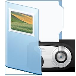 light blue images folder icon