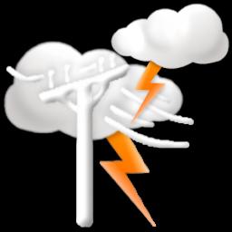 lightning warning icon