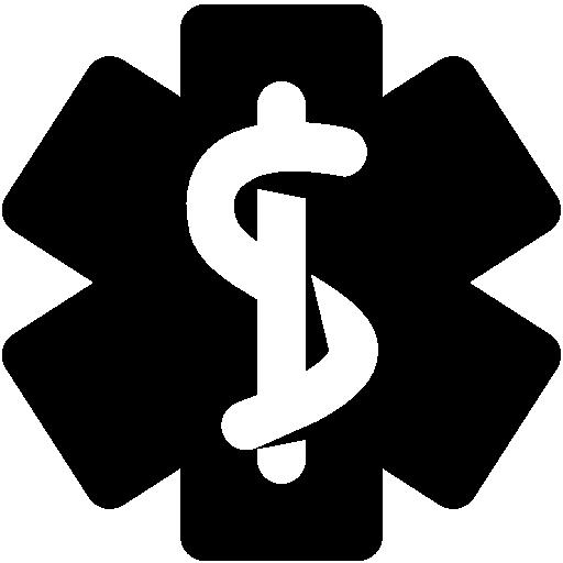 medical snake stick flag icons