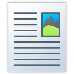 mixed graphics and text file icon