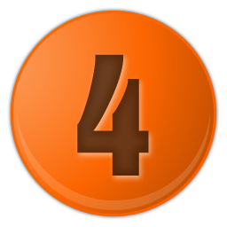 orange number 4 icon