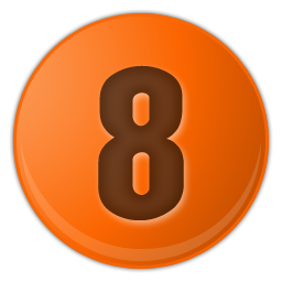 orange number 8 icon