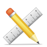pencil ruler icon