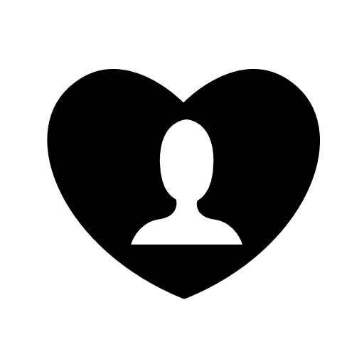 people in heart icon