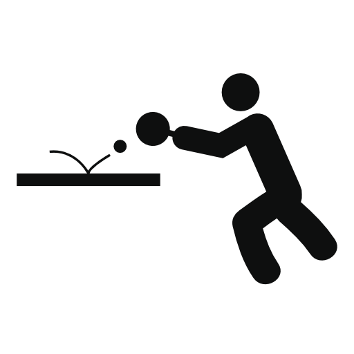 people playing table tennis icon