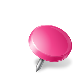 pink drawing pin flag icon