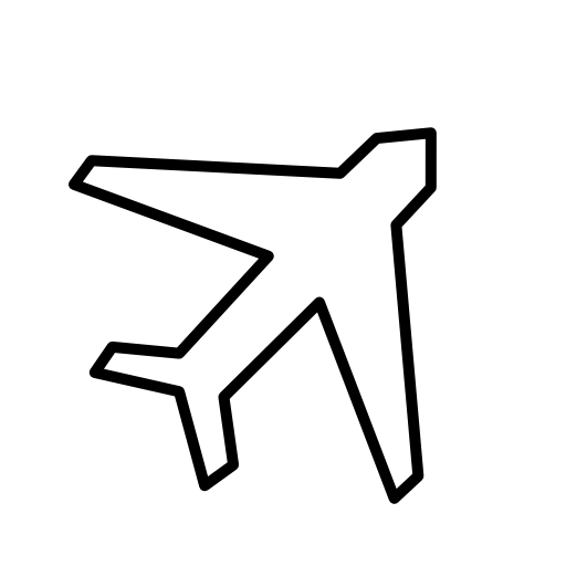 plane simple pictorial icons