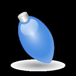 pretty blue light bulb icon