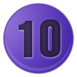 purple number signs 10 icons
