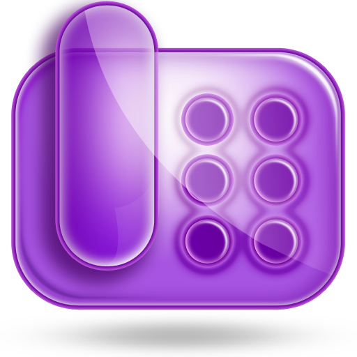 purple radio icon