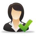 recognized women business user help icon