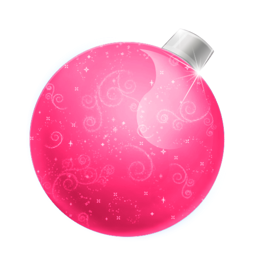 red christmas ball icon