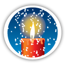 red christmas candle icon