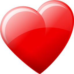 red heart shaped favicon