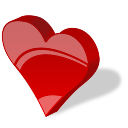 red heart shaped icon