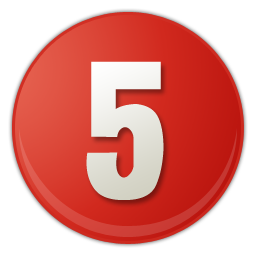 red number 5 icon