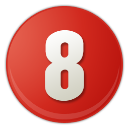 red number 8 icon