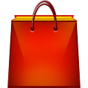 red shopping bag icon