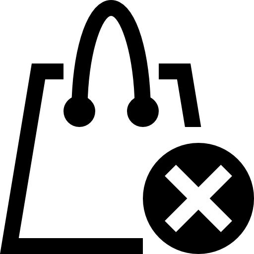 removed from shopping bag icon