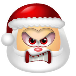 santa angry emoticons