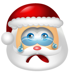 santa claus cry emoticons