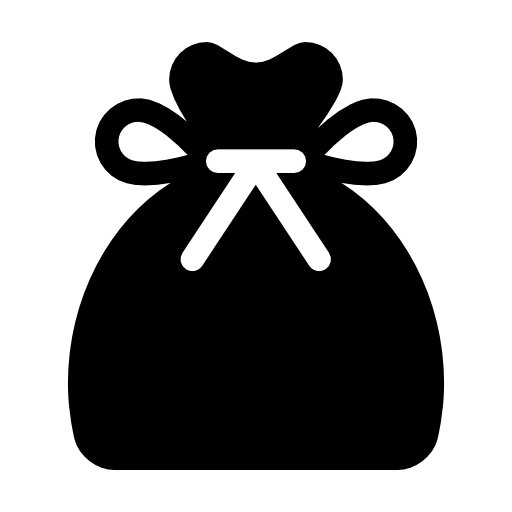 santa claus gift bag icon